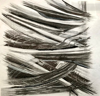 Large Charcoal drawn from small charcoal